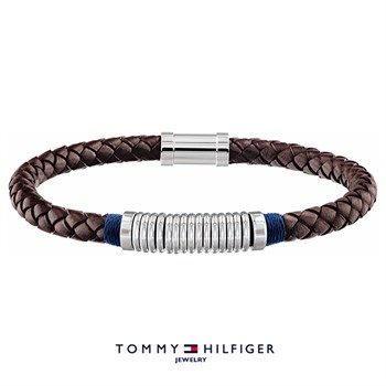 Tommy Hilfiger Armbånd Brown & Steel Ring Design