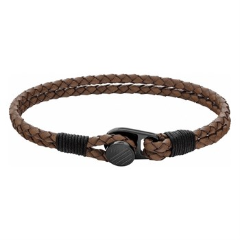 Tommy Hilfiger Armbånd Duo brunt & Sort Logo