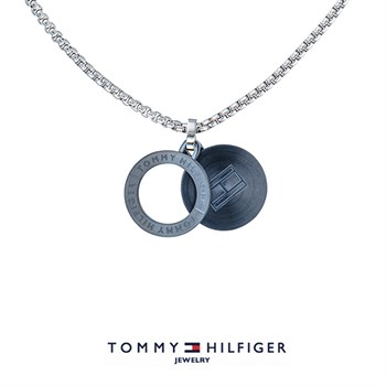 Tommy Hilfiger Halskæde Circle Navy Blue