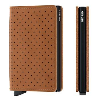 Secrid Slim Wallet Perforated Cognac Kortholder