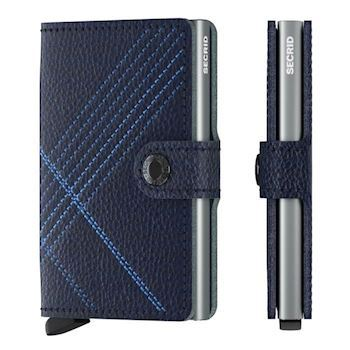 Secrid Mini Wallet Linea Stitch Navy