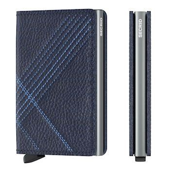 Secrid Slim Wallet Linea Navy Stitch