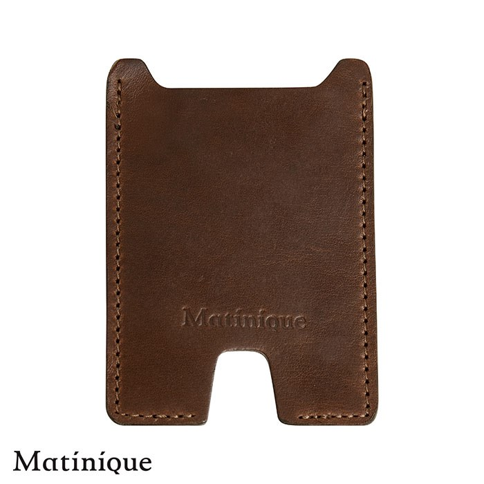 Matinique Kortholder Klassisk Dark Brown