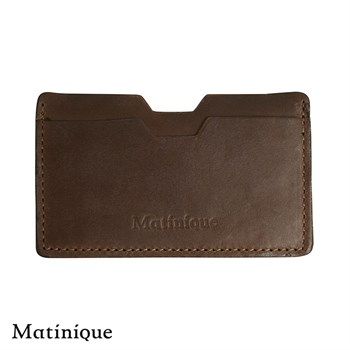 Matinique Læder Kortholder Dark Brown