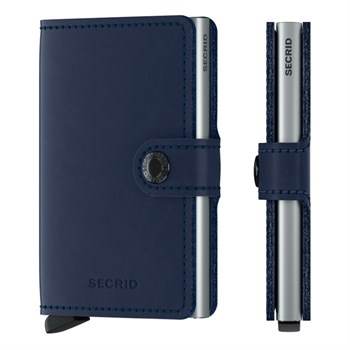 Secrid Mini Wallet Original Navy & Silver