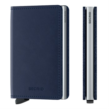 Secrid Slim Wallet Original Navy & Silver