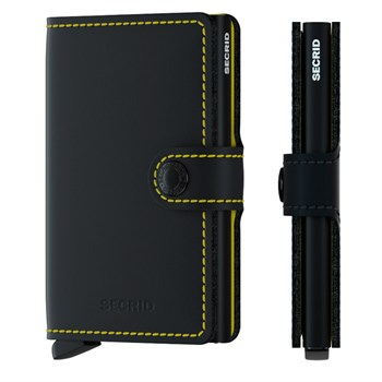 Secrid Mini Wallet Matte Black & Yellow