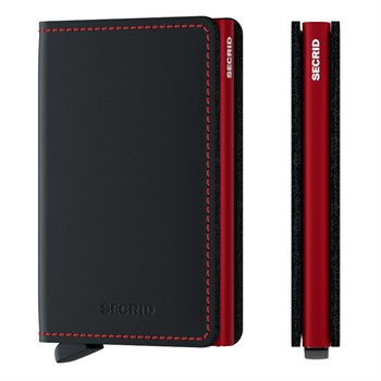 Secrid Slim Wallet Matte Black & Red