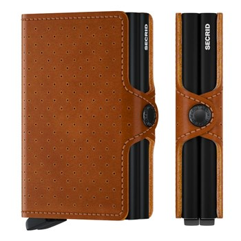 Secrid Twin Wallet Perforated Cognac