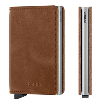 Secrid Slim Wallet Cognac Brown & Silver