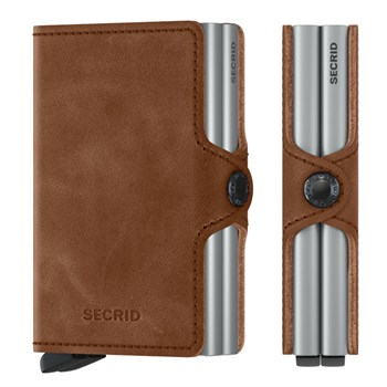 Secrid Twin Wallet Cognac Brown & Silver