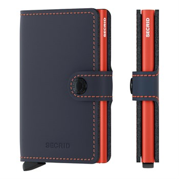 Secrid Miniwallet Matte Night Blue & Orange