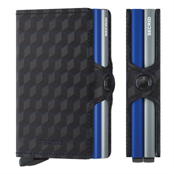 Secrid Twin Wallet Optical Titanium Blue