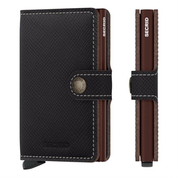Secrid Mini Wallet Saffiano Brown