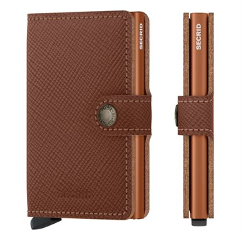 Secrid Mini Wallet Saffiano Caramel