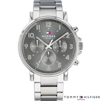 Tommy Hilfiger Ur Steel & Black 1710382