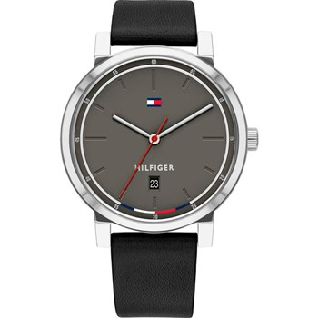 Tommy Hilfiger Ur Steel Grey & Black