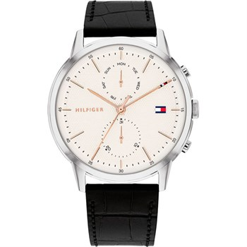 Tommy Hilfiger Ur Easton Steel & White