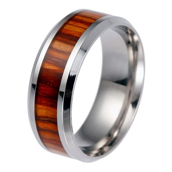 Steel Wood Herre Ring