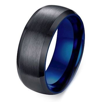 Ring Black Matte Facet