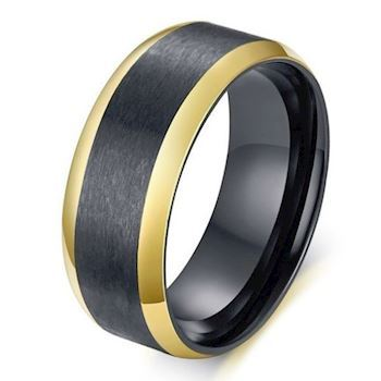 Ring Black & Gold Stripes