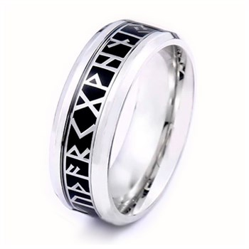Herre Ring Viking Black & Steel