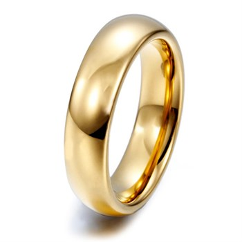 Ring Tungsten Classic Gold 6mm