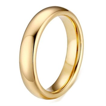 Ring Tungsten Classic Gold 4mm