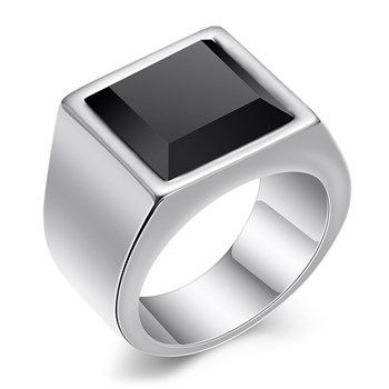 Herre Ring Steel & Black Classic