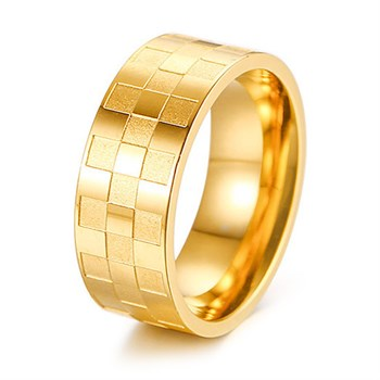 Herre ring Racing Flag Gold