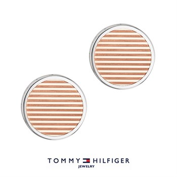 Tommy Hilfiger Manchetknapper Stripes Rose Gold