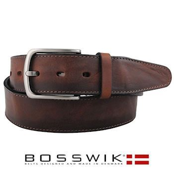 Bælte Bosswik DarkBrown Raw 40 mm