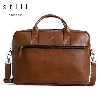 Still Nordic Computertaske Clean Brief Cognac Læder