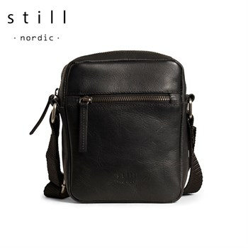 Still Nordic Clean Zip Small Messenger Taske Sort