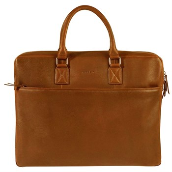 Computertaske Fundamentals Burkely Cognac Antique Avery 17""