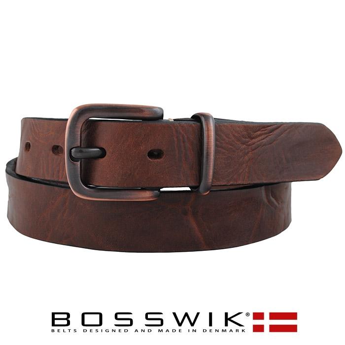brunt læder bælte