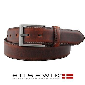 Bosswik Herre Bælte Dark Brown