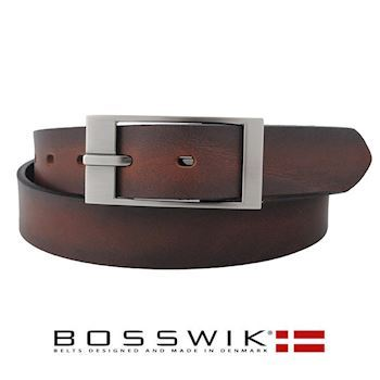 Bosswik Herre Bælte Dark Brown Design