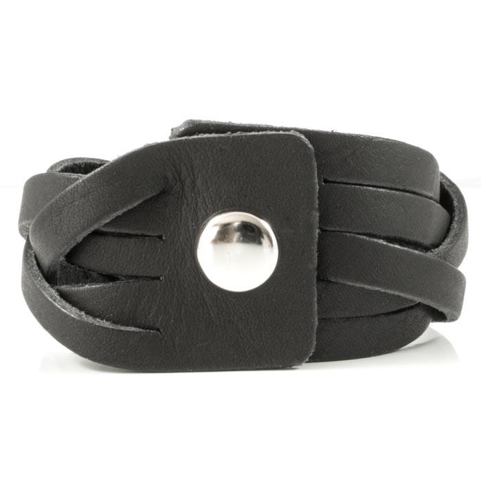 Armbånd til Mænd Sort Læder