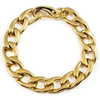 Herre Armbånd Steel Curb Gold