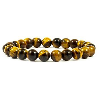 Tiger Eye Armbånd Brunt 8mm