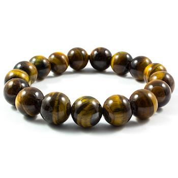 Tiger Eye Armbånd Brunt 12mm