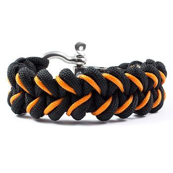 Paracord Armbånd Steel Black Orange