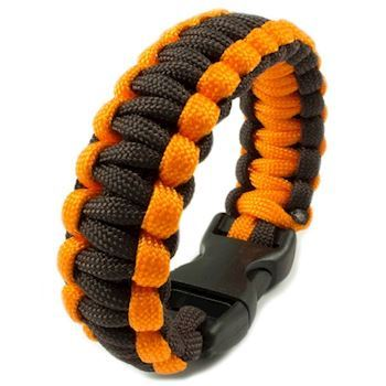 Paracord Armbånd Orange Brown