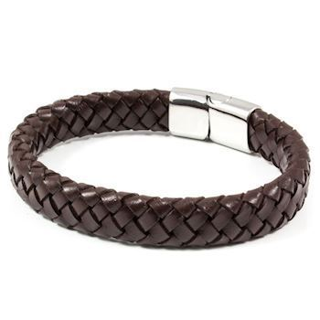 Herre Armbånd Dark Brown Wide