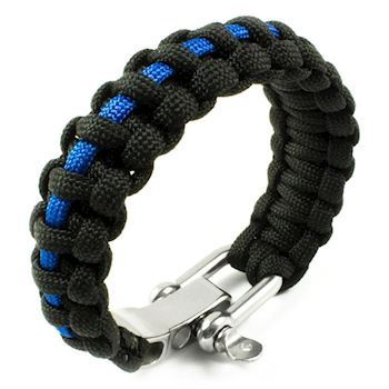 Paracord Armbånd Stainless Steel Blå