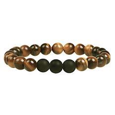 Armbånd Tiger Eye & Sort