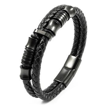Herre Armbånd Duo Steel Black