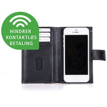 Kalveskinds Cover iPhone 6 Sort