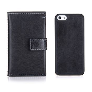 Kalveskinds Cover iPhone 7/8 Sort